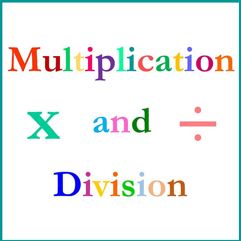 Multiplication and Division KS1 (Version for Mac)