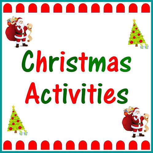 Christmas Activities Set One    (5 to 7 Years)