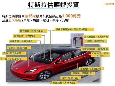 投資台灣方案破1兆 15家特斯拉供應鏈廠商入列