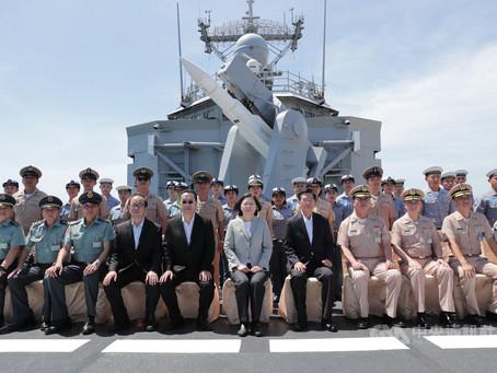 蔡總統視導子儀艦罕見掛戰彈專家:海軍準備好了