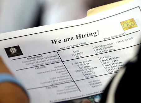 科州新申請失業救濟人數下降到最低水平失業總人數仍在上升