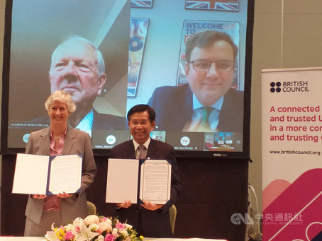 台英加強英語教育合作 韓斯:有助雙邊貿易增長
