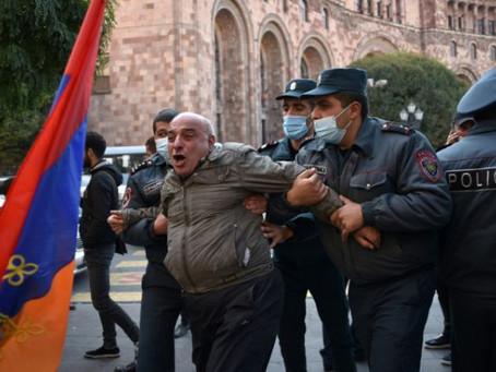 抗議簽和平協議 亞美尼亞10 反對派人士被捕