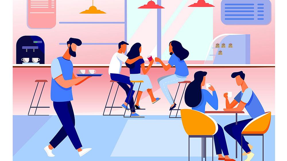 تسويق المطاعم والكافيهات
