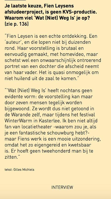 Michael De Cock over WatNietWegIs.png