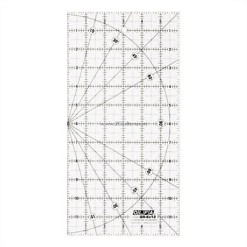 "OLFA 6""X 12"" Rectangular Frosted Acrylic Ruler"