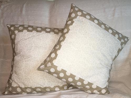 Polka Dot Blooms Cushion Cover