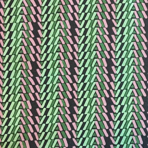 Amy Butler – Bright Heart Quilting Cotton – Rhythm Stripe – Dusk