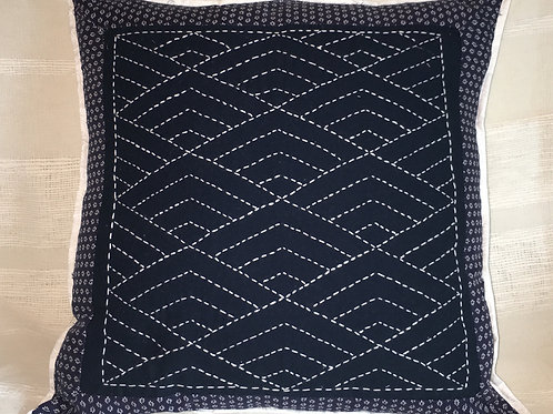 Ayumi Sashiko Embroidered Cushion Cover