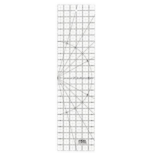 "OLFA 6"" X 24"" Rectangular Frosted Acrylic Ruler"