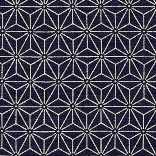 Nara Homespun Hexagons (Indigo)