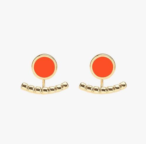 Boucles d'Oreilles Comete - Tangerine