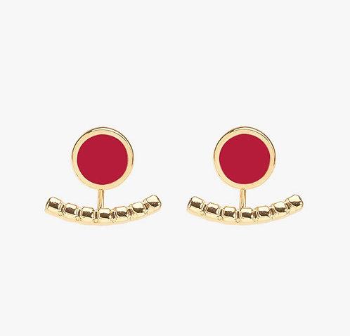 Boucles d'Oreilles Comete - Rouge Velours