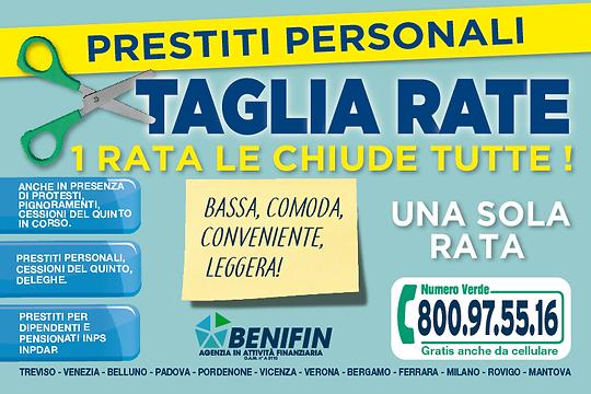 Benifin prestiti Treviso