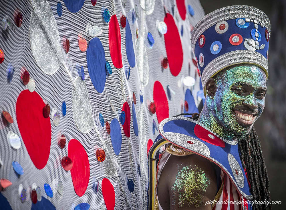 A colourful Carnival reveller