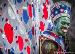 A colourful Carnival reveller