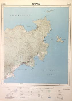 Map of Tobago, eastern.1962