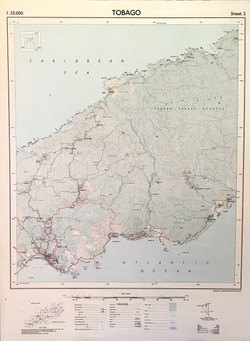 Map of Tobago, central. 1962