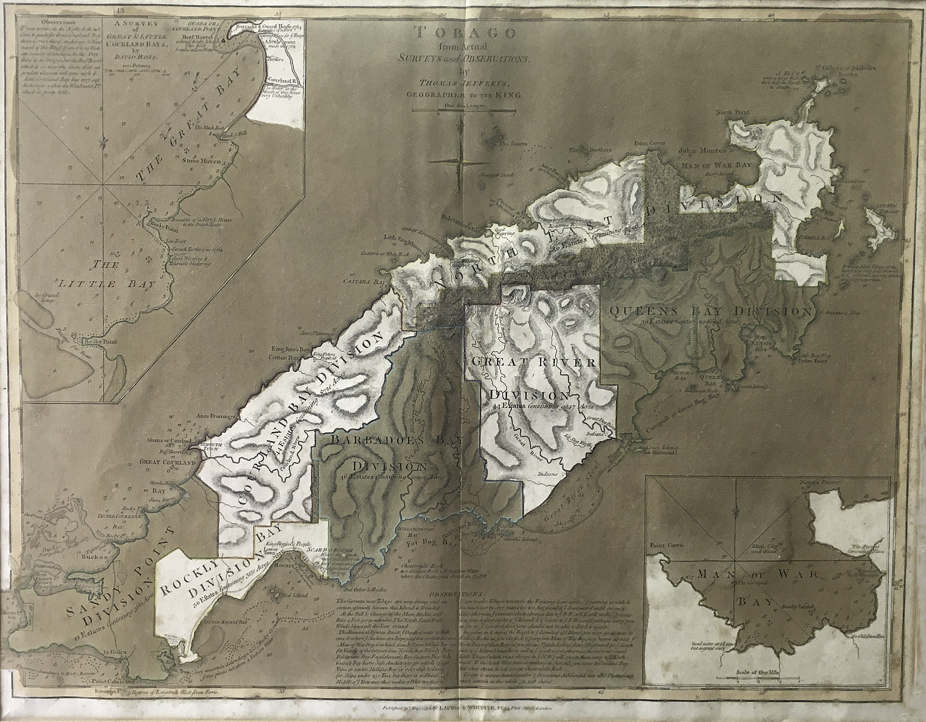 Tobago from Actual Surveys and Observations by Thomas Jefferys, Geographer to the King. 1794