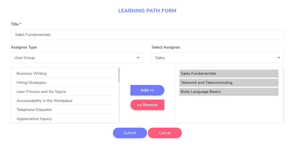 Learning Paths for Corporate Training