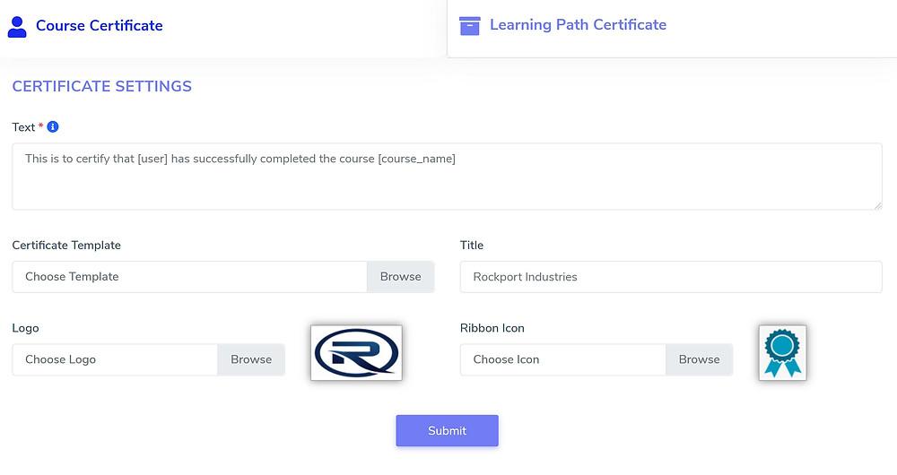 Corporate Training Certificate Builder