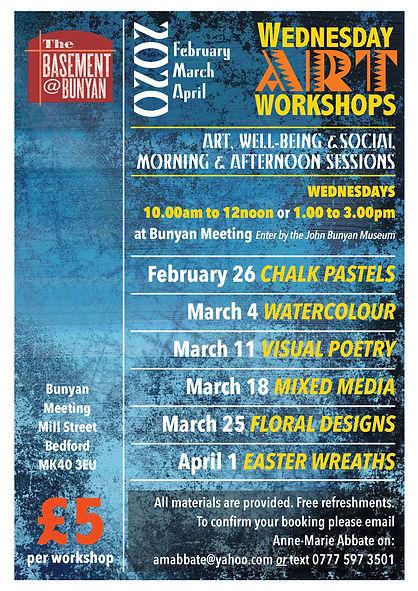 A4 Wed Workshop Feb, March & April 2020.