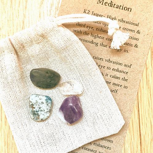 Meditation crystal set