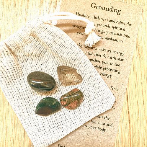 Grounding crystal set