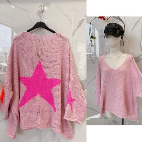Pullover mit bunten Sternen