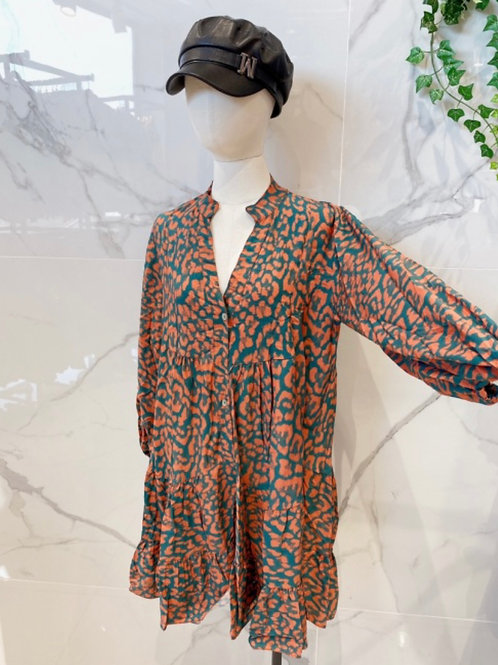 Leopard Kleid Kurz