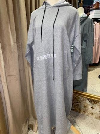 Sweatshirt Kleid mit Aufschrift
