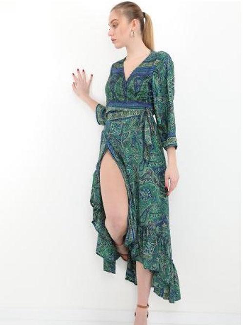 Wickel Kleid aus Seide