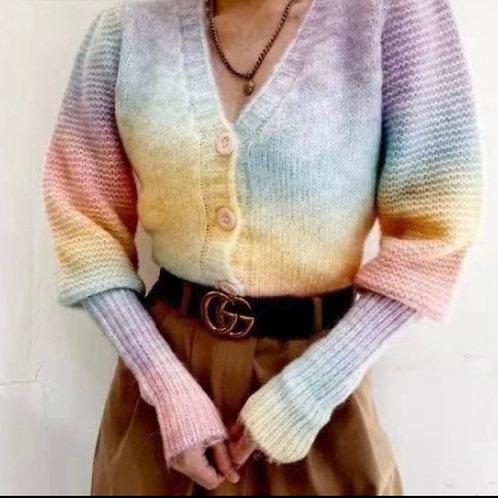 Jacke in Regenbogen Farben