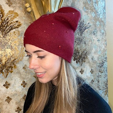 Mütze mit Glitzersteinen