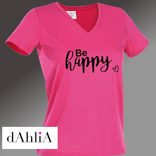 Stylisches T-Shirt Be happy