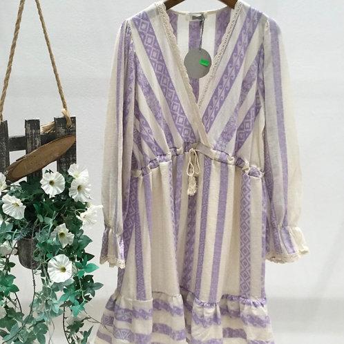 Boho Kleid mit Bindegürtel