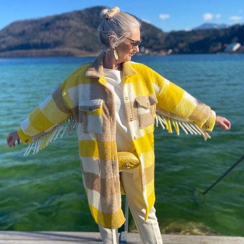 Stylischer Übergangsmantel Oversize  aus Wolle
