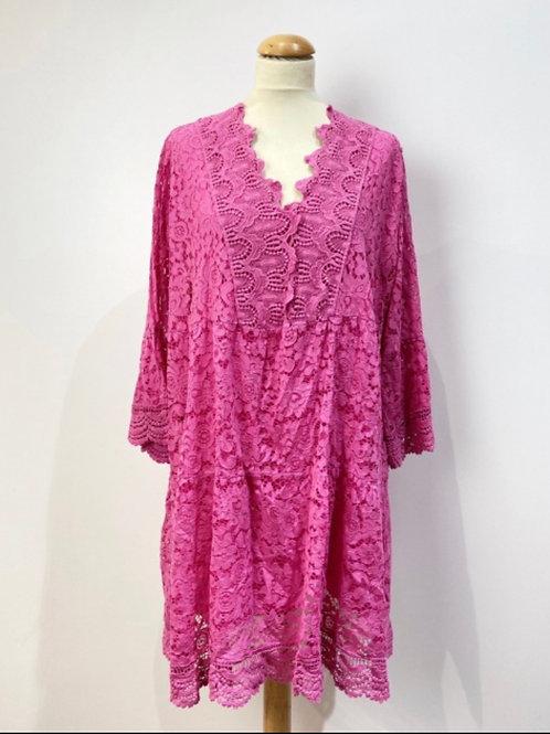 Boho Kleid oder tunika mit Spitze