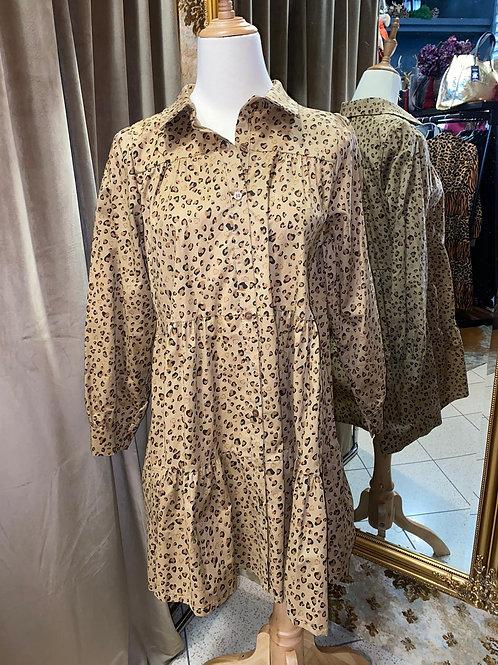 Tunika Kleid im Leostyl