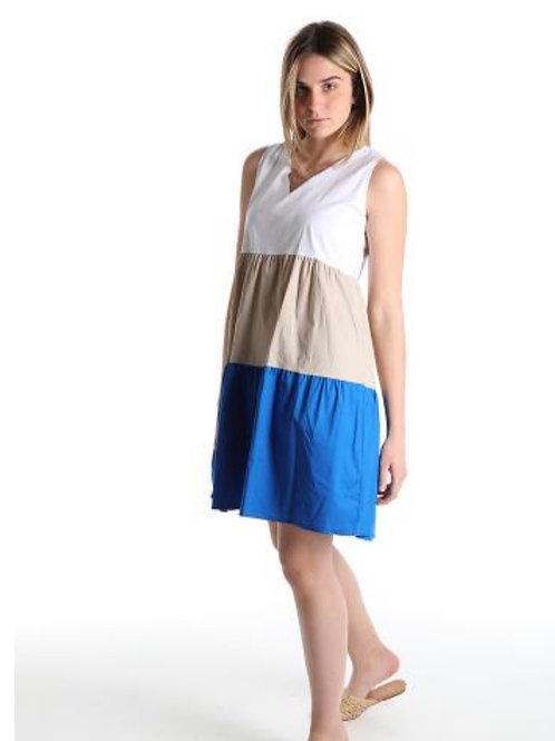 Kurzes Sommerkleid 3 färbig