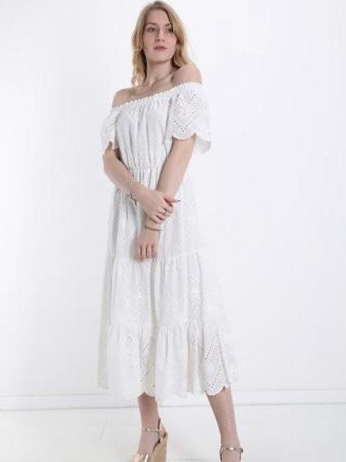 Sommerkleid maxi aus Spitze off Shoulder
