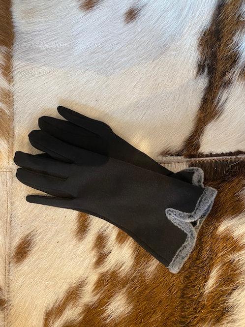 Edle Handschuhe mit Fell
