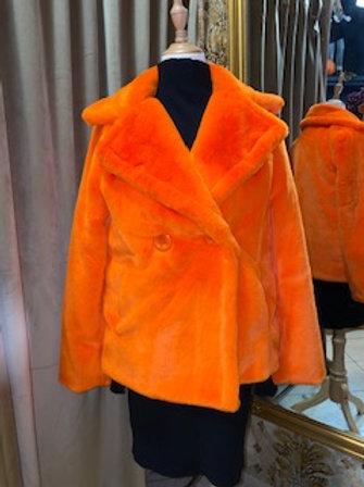 Felljacke orange