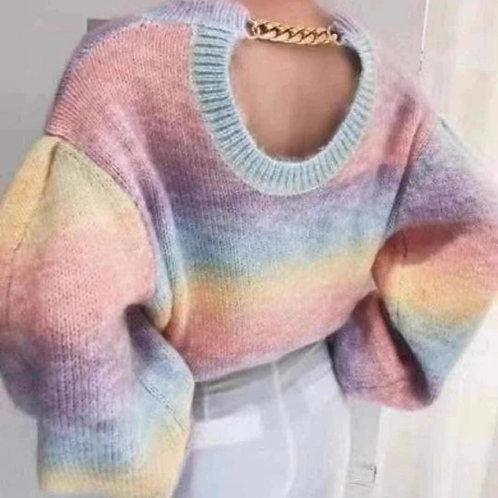 Kopie von Pullover in Regenbogen Farben