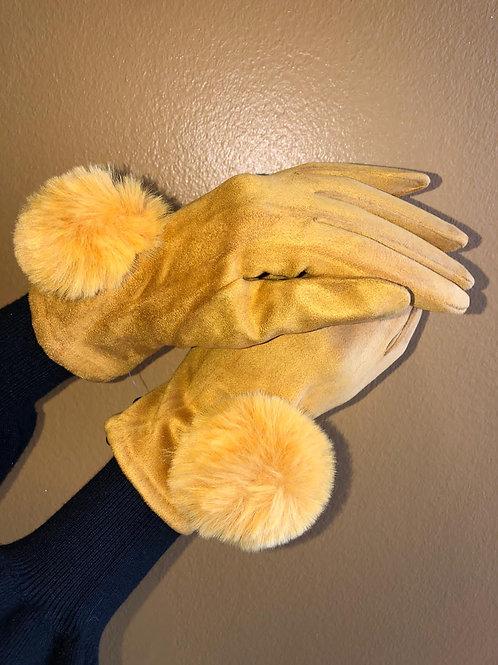 Edle Handschuhe mit Echtfell