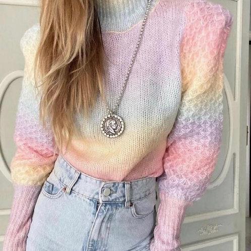 Pullover in Regenbogen Farben