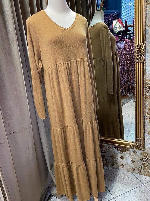 Viskose Kleid bis zum Knöchel bis Gr 42