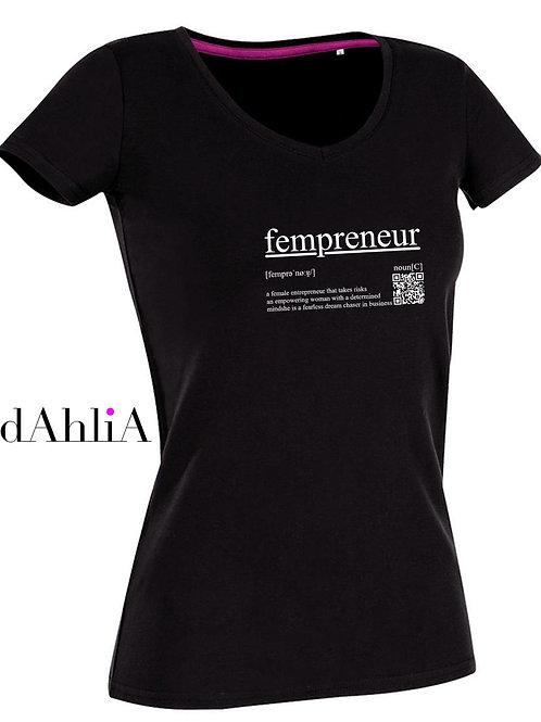 Stylisches T-Shirt #fempreneur