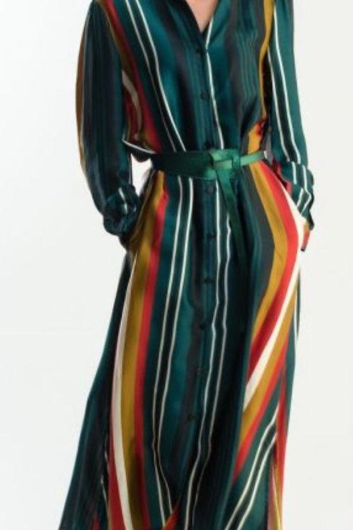 Gestreiftes langes Kleid