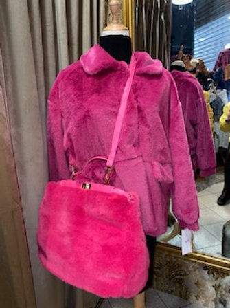Felltasche in pink